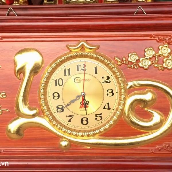 Đồng hồ tranh gỗ treo tường chữ LỘC