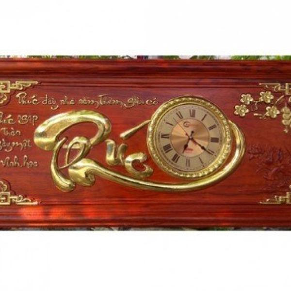 Đồng hồ tranh gỗ treo tường chữ PHÚC