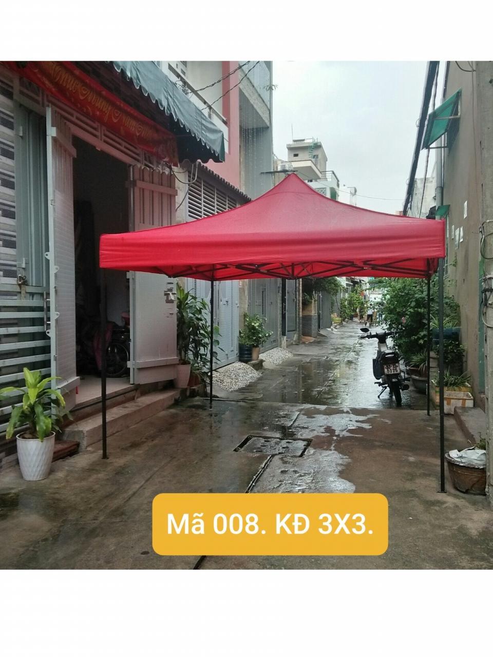 LỀU XÊP KHUNG ĐEN 3MX3M - 008